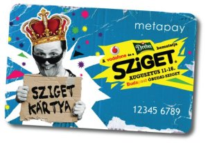 Card stating Szigetkártya (Szigetcard)