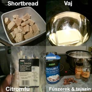 A sajttorta hozzávalói